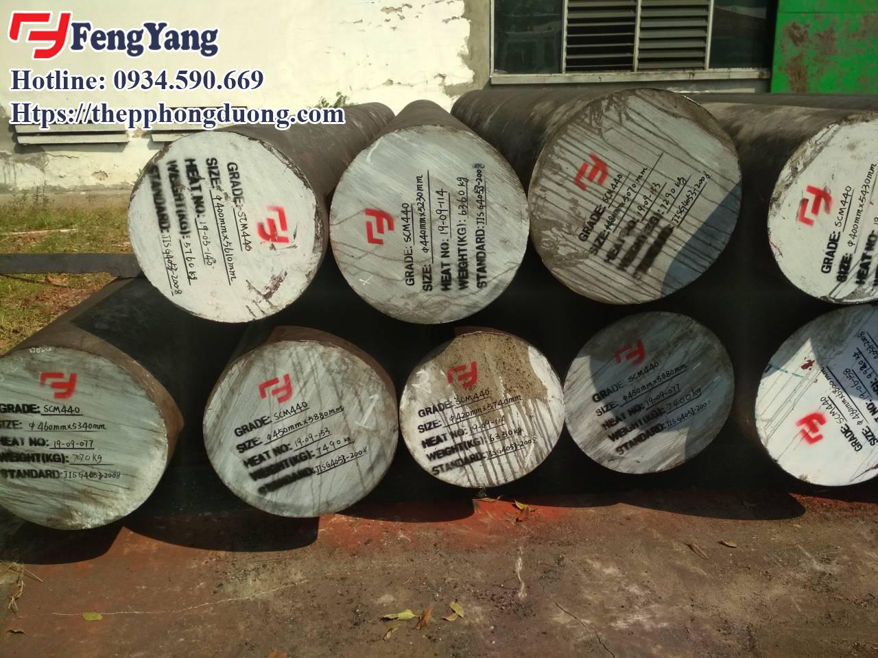 Hình ảnh trục rèn SCM440 có sẵn trong kho của Thép Phong Dương tại Hà Nội