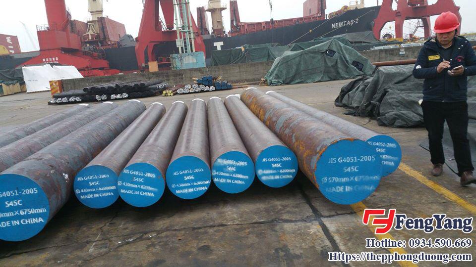 Nhập khẩu trục thép rèn S45C tại Thép Phong Dương