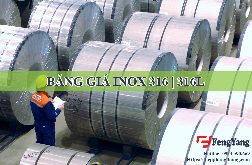 Bảng giá inox 316 316l