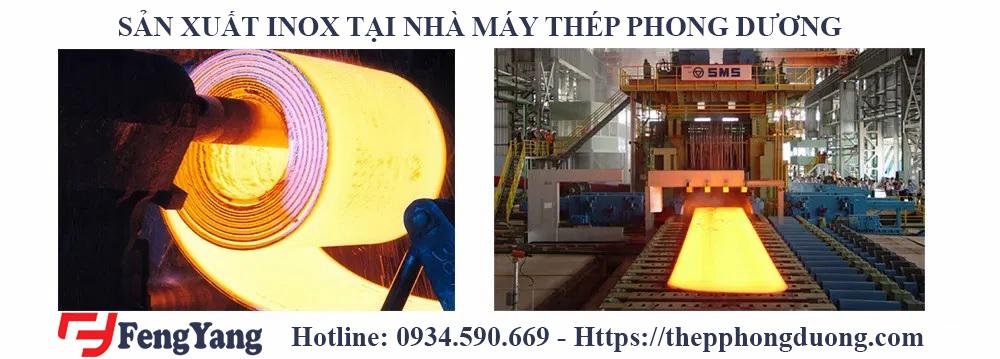 Sản xuất inox tại nhà máy Thép Phong Dương