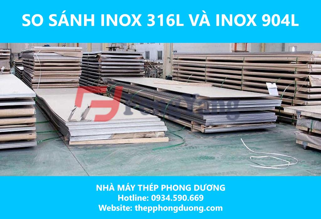 So sánh inox 316L và inox 904L